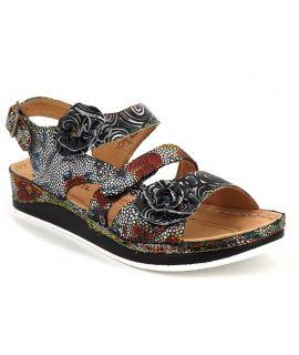 Sandale Laura Vita Brcuelo 04 noir, nu pieds confort pour femmes