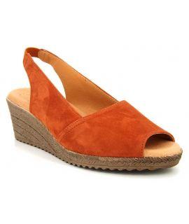 Chaussures Kaola 191 brique, compensé confortable pour femmes