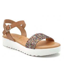 Sandale confort Kaola 3481 multi, semelle pieds sensibles pour femmes