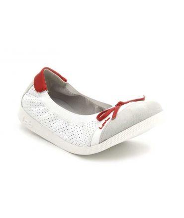 Ballerines pour filles J Eloise petit noeud rouge Lpb Shoes, disponible du 28 au 35