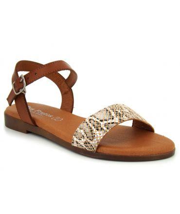 Sandale Eva Frutos 9190 Boa marron, nu pieds spécial confort