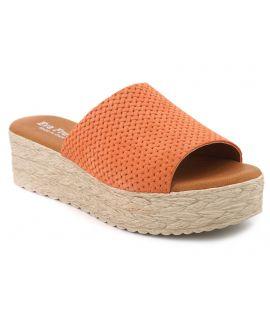 Mules Eva Frutos 767 corail, chaussures spécial pieds sensibles