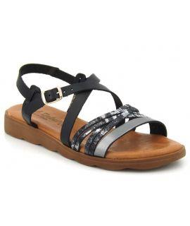 Sandale Carla Tortosa 10112 noir Multi pour femmes