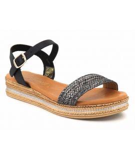 Carla Tortosa 14110 noir, sandale à plateforme semelle gel