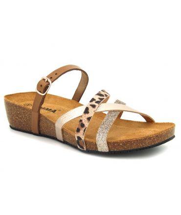 Emma Shoes mules petit compensé 8956 Combi léopard