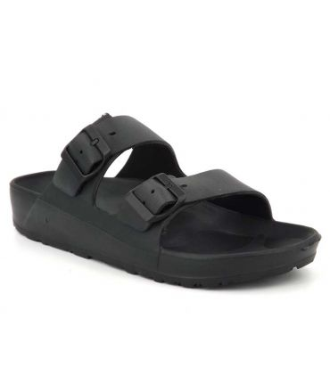 Mules deux brides DKR 8704 noir, claquettes Eva d'Emma Shoes