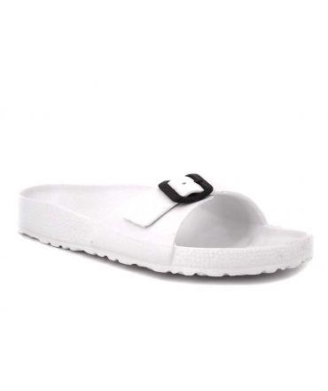 Claquettes plastique Emma Shoes DKR 8701 blanc pour hommes et femmes