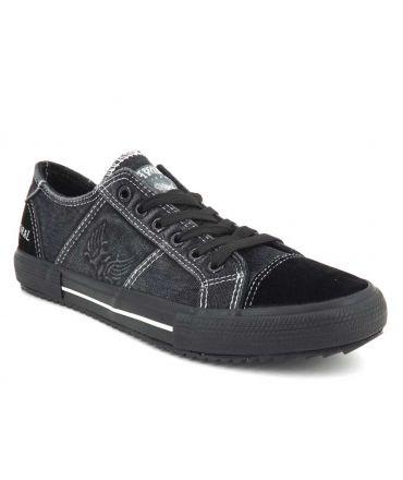 Chaussures Kaporal Yariska noir, baskets basses pour hommes