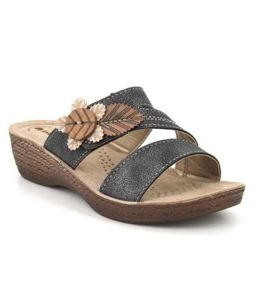 Mules confort Inblu Mod 04 noires | Compensé spécial pieds sensibles