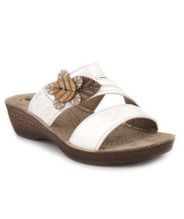 Mules souples Inblu Mod 04 blanches | Compensé spécial pieds sensibles