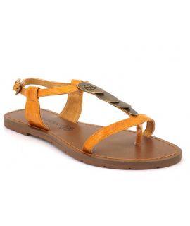 Nus pieds Chattawak Lucinda jaune pour femmes