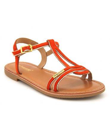 Sandale Les Tropéziennes Badabuc corail pour fillettes