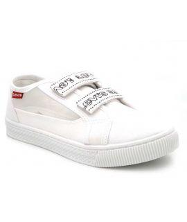 Baskets basse Lévi's Malibu Velcro S blanc pour femmes