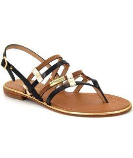Les Tropéziennes Cumin marron par M belarbi, sandale en cuir
