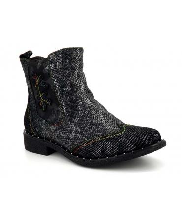 Laura Vita Cocralieo 16 noir, boots femmes fermeture zip