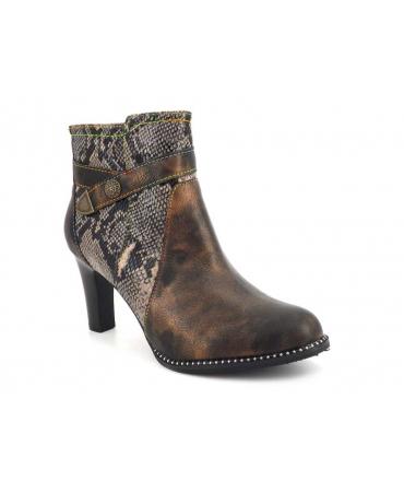 Nouveauté Laura Vita Alcbaneo 226 bronze, nouveauté bottines à talon pour femmes