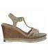 Marco Tozzi 28018-26 haut compensé en cuir beige pour femmes