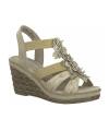 Compensé Marco Tozzi 2-28302-26 beige pour femmes
