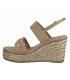 Sandale compensé cordes et strass Marco Tozzi 28349-26 nude, beige pour femmes