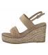 Sandale compensée cordes et strass Marco Tozzi 28349-26 beige pour femmes