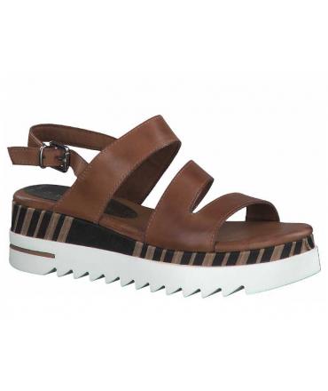 Marco Tozzi sandale plateforme 28730-26 marron cognac