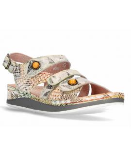Laura Vita Brcuelo 0621 rose, sandales velcros pour pieds sensibles