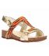 Laura Vita Brcyano 53 orange, sandales en cuir confortables pour femmes