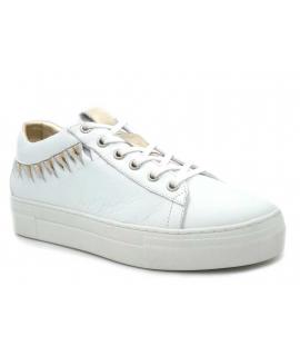 Baskets femmes Métamorfose James blanc, sneakers semelle épaisse