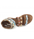 Métamorfose Jairo bleu, nu-pieds style ethnique avec plumes, sequin et perles