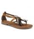Métamorfose Jalap marron, sandale entre doigts style ethnique