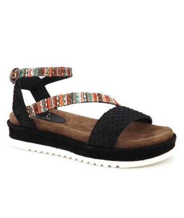 Sandale confort Métamorfose Janis noir, chaussures spécial pieds sensibles