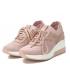 Xti baskets 42593 nude, baskets rose compensés strass pour femmes