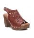 Xti sandale à talon 42228 camel, semelle à mémoire de formes