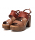 Sandale Xti 42704 marron, sandale compensée à talon décroché
