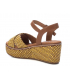 Compensé Xti 42280 jaune, sandale confort et mode pour femmes