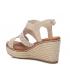 Sandale Xti 42271 beige, compensé cordes semelle confort