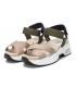Xti 42751 beige, sandale de randonnée croisées fermeture velcro
