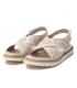 Xti 42672 beige, nu-pieds brides croisées semelle confort pour femmes