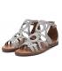 Sandale plate Xti 42288 gris, brides tressées