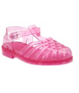 Meduse Sun rose pailleté, sandale de plage pour fillettes