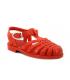 Meduse Sun rouge, sandale de plage plastique pour fillettes