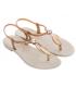 Grendha 18018 Cacau Marajo noir, sandale plastique à la mode, fabriquée au Brésil