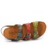 Sandale Laura Vita Facscineo 31 gris | Nu-pieds confort 3 scratchs réglables