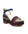 Sandale Elue par Nous Jokari bleu | Talon décroché 9 cm