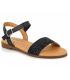 Eva Frutos 9190 gliter noire, semelle gel confortable