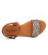 Nu-pieds Eva Frutos 9190 gliter multi, semelle gel confortable