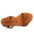 Nu-pieds Eva Frutos 9139 marron, sandale plate en cuir souple aspect nubuck