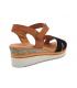 Sandale Eva frutos noire, petit conpensé cuir confortable547