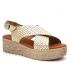 Compensé Eva Frutos 714 Grabado platine | Sandale plateforme semelle gel confortable et légère