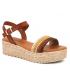 Eva Frutos 794 marron multi | Sandale plateforme semelle gel